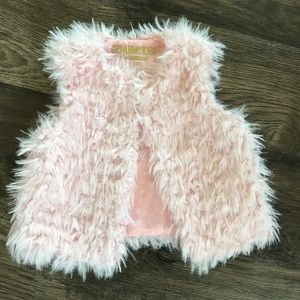 Light Pink Furry Vest